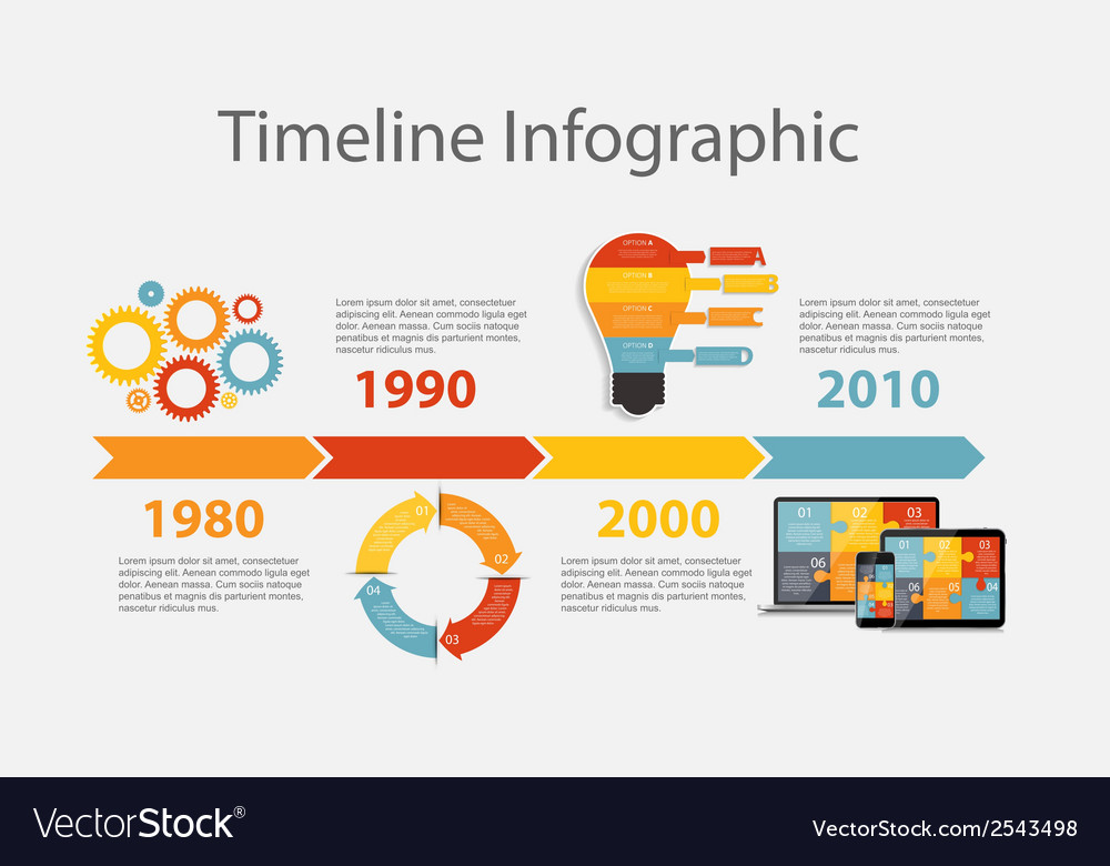Timeline infographic template for business vector | Price: 1 Credit (USD $1)