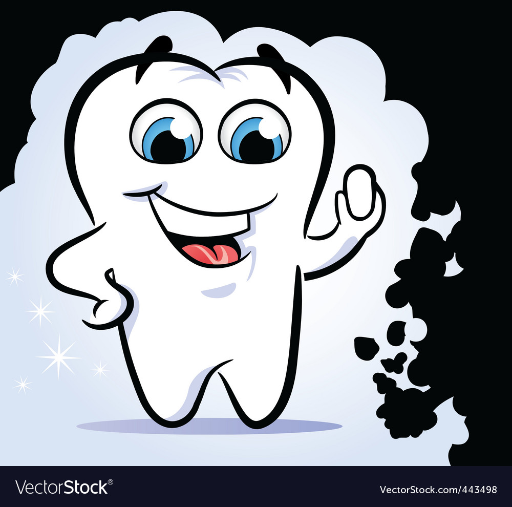 Tooth stop dirt vector | Price: 1 Credit (USD $1)
