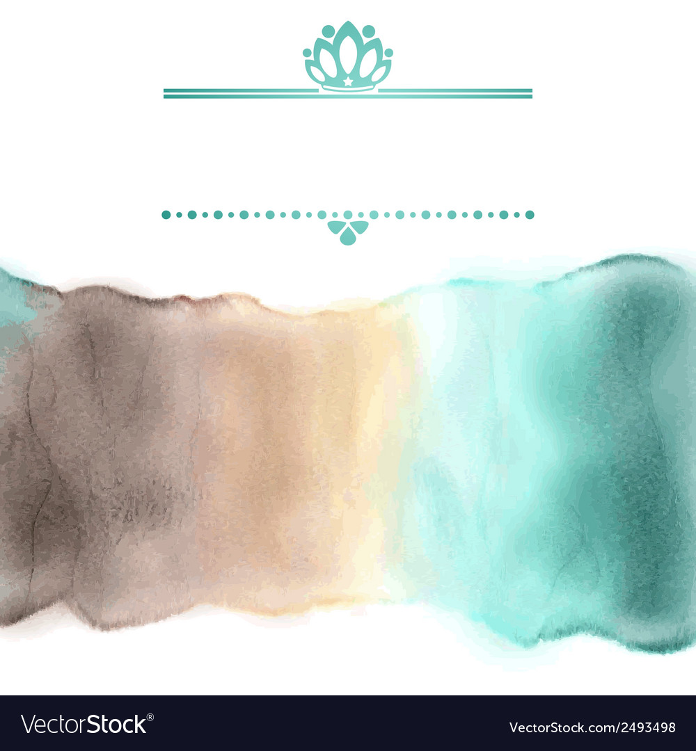 Watercolor stripe in delicate colors with frame vector | Price: 1 Credit (USD $1)