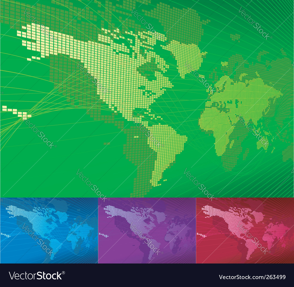 3d world map vector | Price: 1 Credit (USD $1)