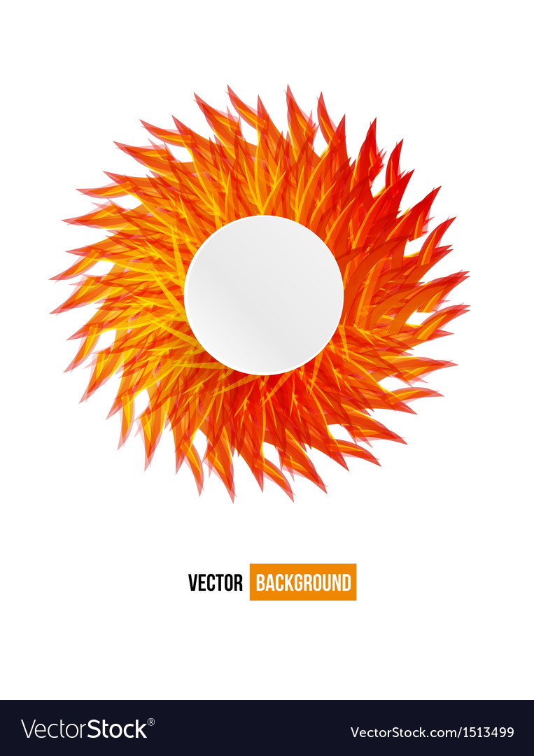 Circle orange flower card abstract vector | Price: 1 Credit (USD $1)