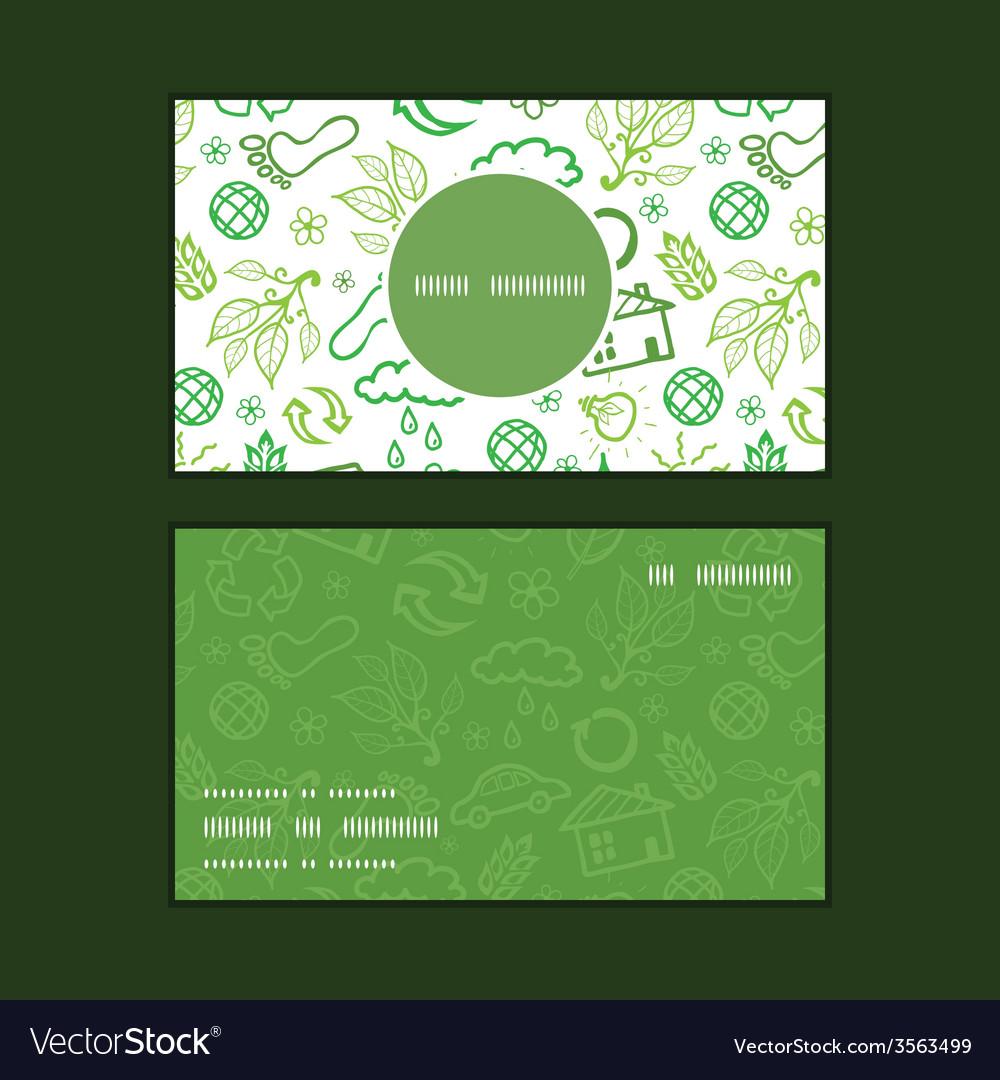 Ecology symbols vertical round frame pattern vector | Price: 1 Credit (USD $1)