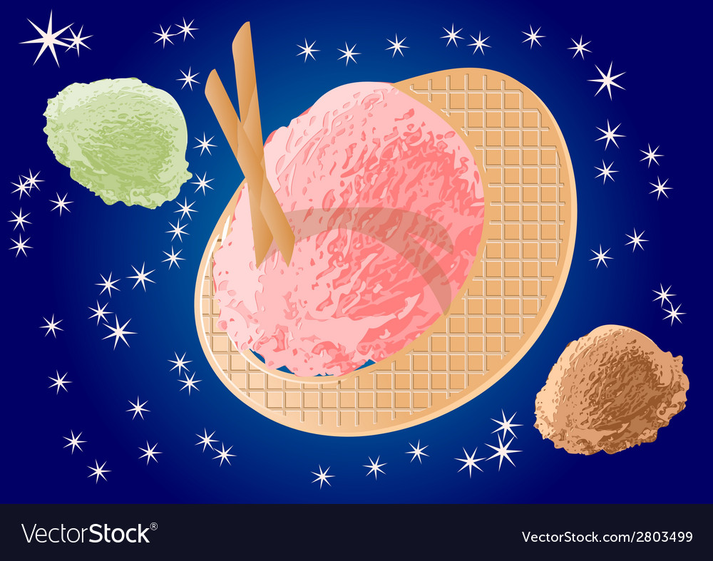 Ice cream as planets vector | Price: 1 Credit (USD $1)
