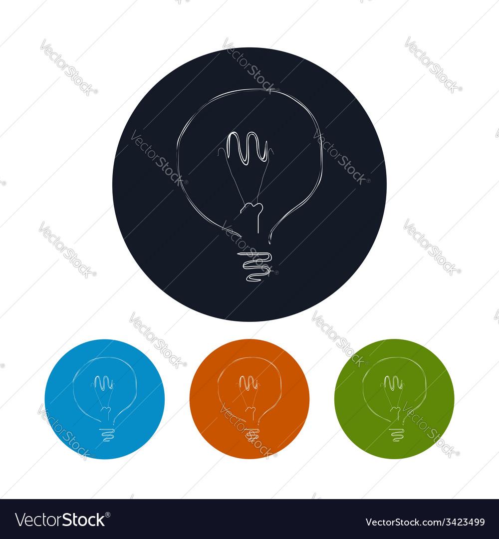 Icon lightbulb vector | Price: 1 Credit (USD $1)