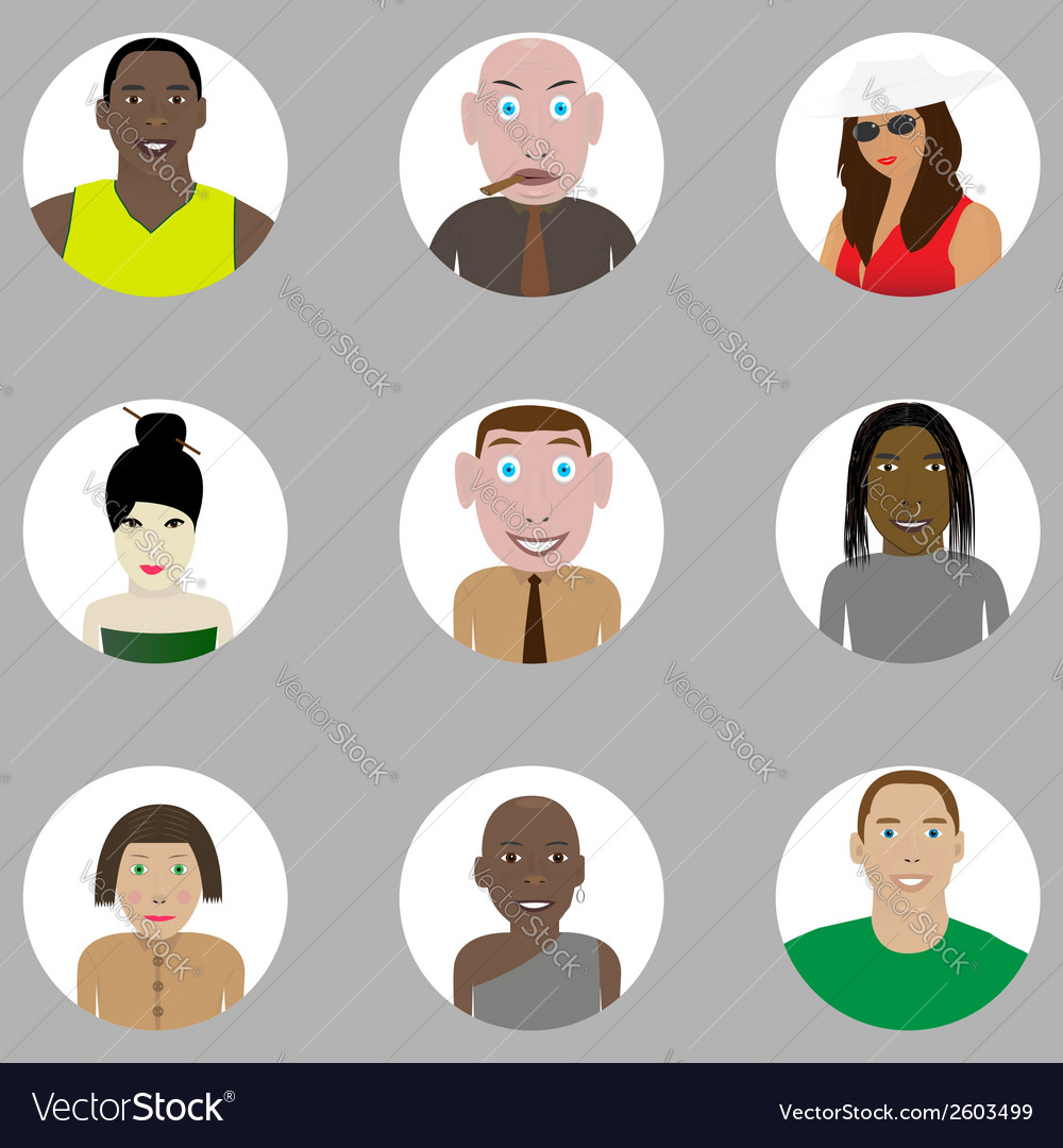 People set vector | Price: 1 Credit (USD $1)
