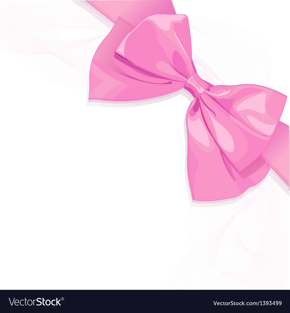 Pink bow vector | Price: 1 Credit (USD $1)