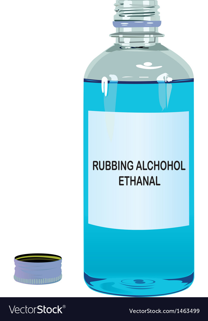 Rubbing alcohol ethanal vector | Price: 1 Credit (USD $1)