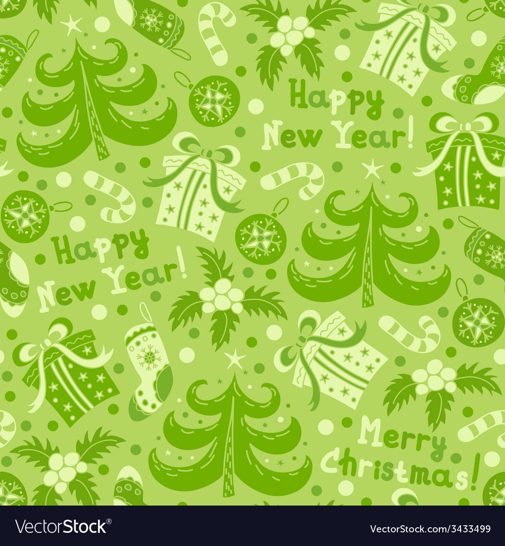 Seamless pattern happy new year vector | Price: 1 Credit (USD $1)