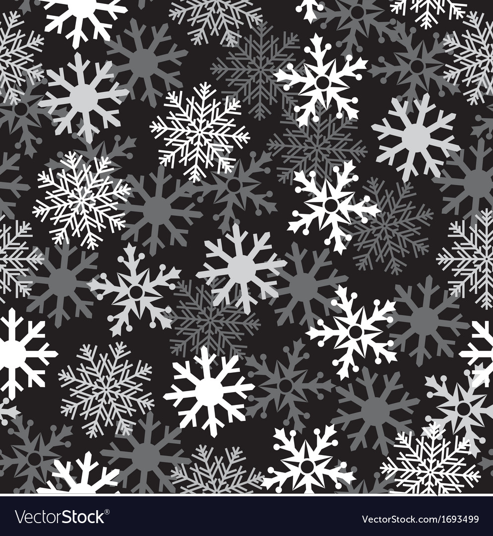 Snow black pattern vector | Price: 1 Credit (USD $1)