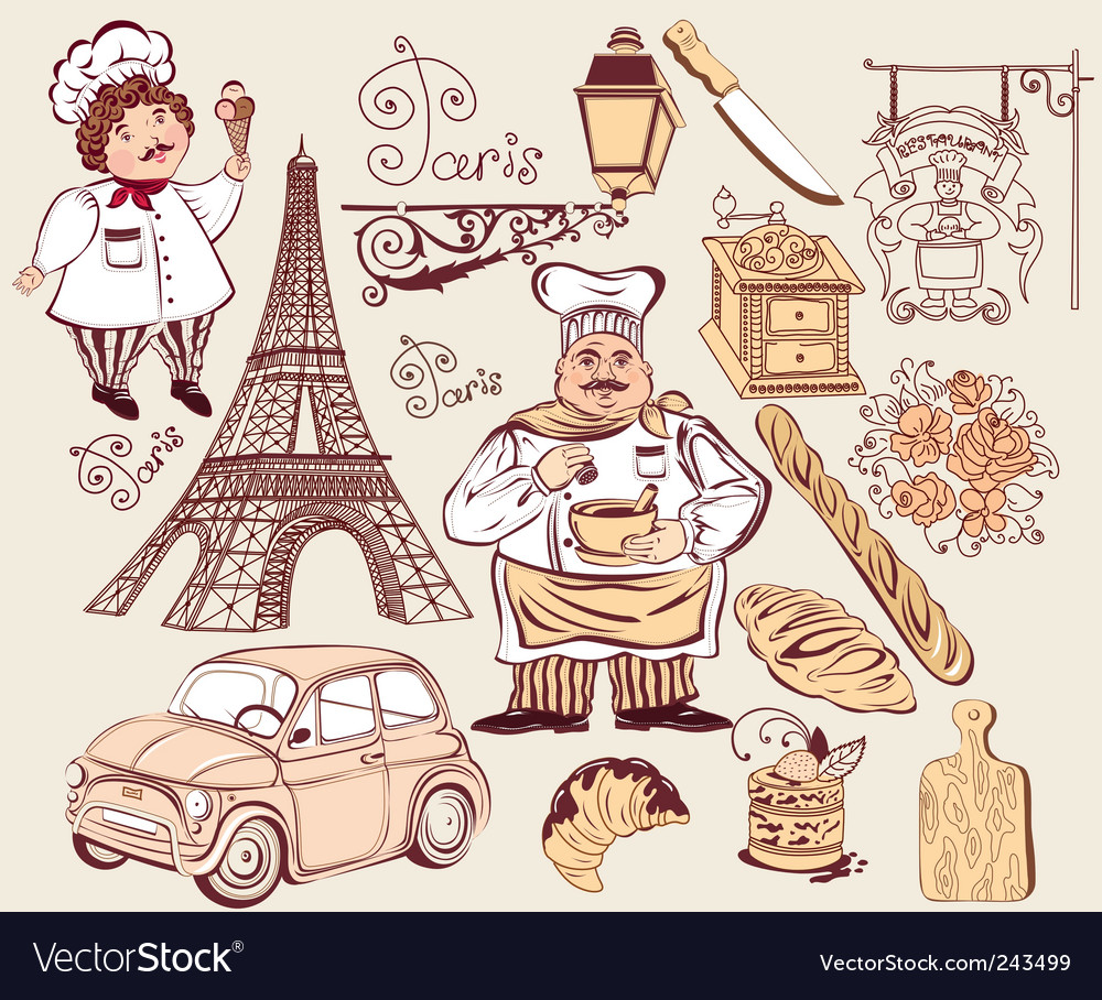 Symbols of paris vector | Price: 3 Credit (USD $3)