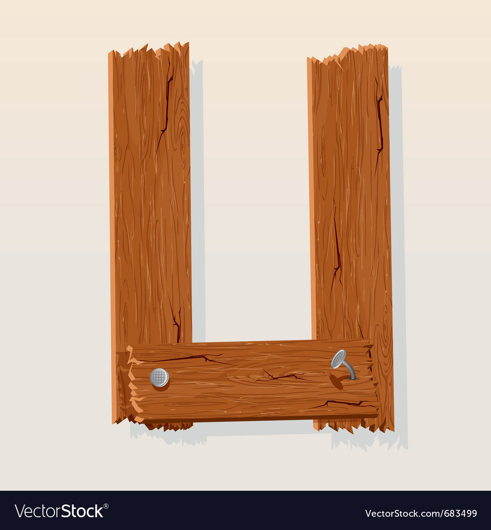 Wooden letter u vector | Price: 1 Credit (USD $1)