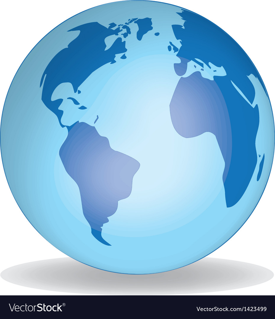 World globe v1 vector
