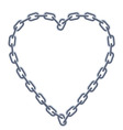 Chain silver heart vector