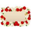 Romantic flower board vector