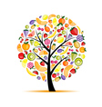Energy fruit tree for your design vector