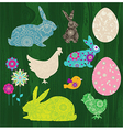 Happy easter elements vector