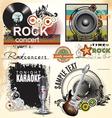 Grunge music banner set vector