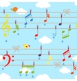 Birds and music vector
