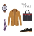 Mens wear look fashion flat style vector