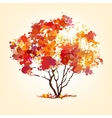 Autumn tree of blots background vector