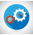 Troubleshooting symbol gears icon on stylish vector