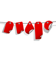 Set of red tags vector