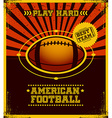 American football poster design vector
