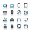 Computer icons reflection vector