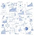Doodle infographic design elements vector