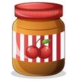 A cherry jam vector