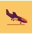 Aircraft transportation flat icon vector