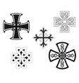 Set of religious crosses vector