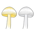 Two mushrooms isolated on the white vector
