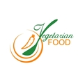 Vegetarian food symbol vector