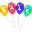 Colorflus balloons sale vector