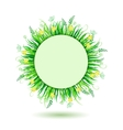 Beautiful green meadow vector
