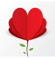 Paper heart valentines day card flower concept vector