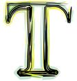 Font letter t vector