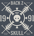 Skull t-shirt design original tee print graphics vector