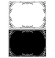 Retro floral frame in different styles vector