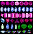 A set of precious stones of different cut vector