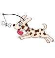 Funny dog cartoon running vector
