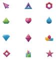 Crystals set vector
