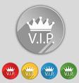 Vip sign icon membership symbol very important vector