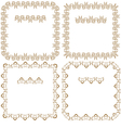 Set of beautiful square frames vector