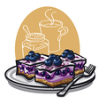 Blueberry cakes vector