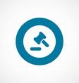 Court law bold blue border circle icon vector
