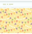 Party decorations bunting horizontal torn seamless vector