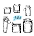 Jars with labels vector