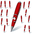 Red pen vector